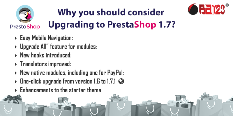 Why you should consider upgrading to prestashop 1.7