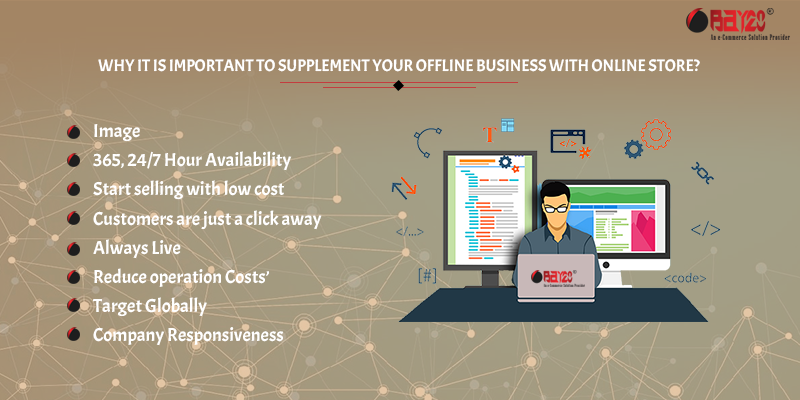 Why it is important to supplement your offline business with online store