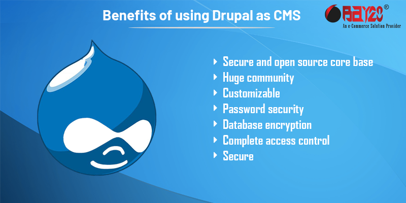 Benefits of using Drupal as CMS