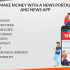 Make money with a news portal and news app