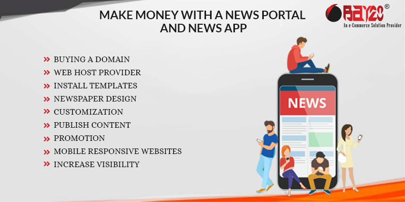 Make money with a news portal and news app