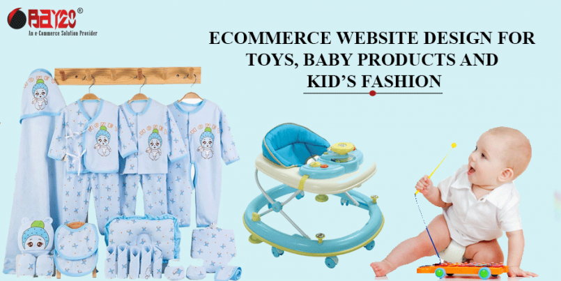 eCommerce website design for Toys, Baby Products and Kids' Fashion
