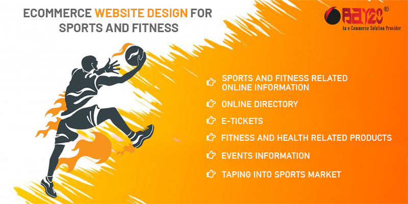 eCommerce website design for Sports and Fitness