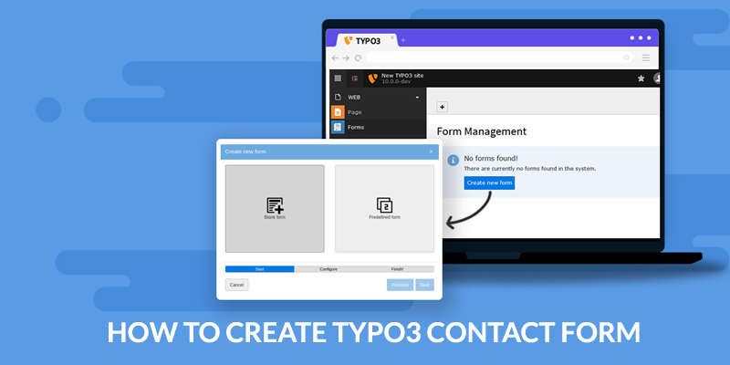 How to Create and add a Typo3 Contact Form Page